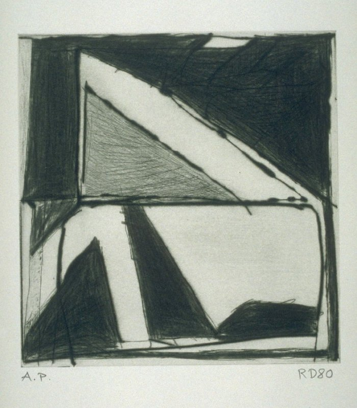 Two Right Triangles, One in Other, from the portfolio, Four Small Prints