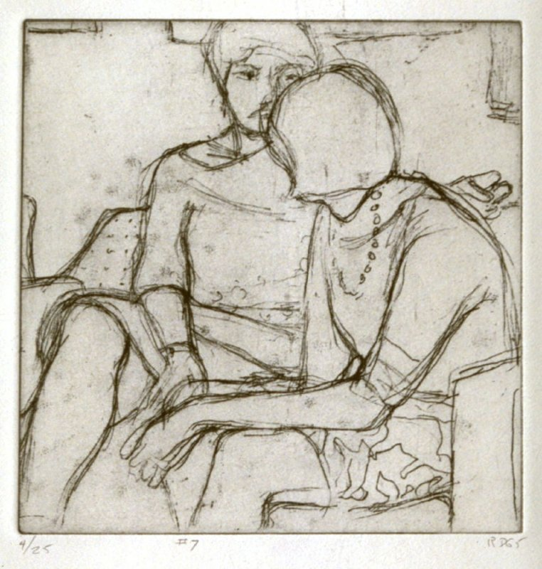 #7 (Phyllis and her friend, Flora), from the portfolio 41 Etchings Drypoints