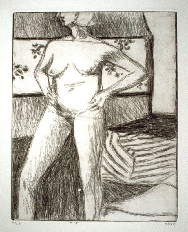 #15 (standing nude with arms on hips), from the portfolio 41 Etchings Drypoints