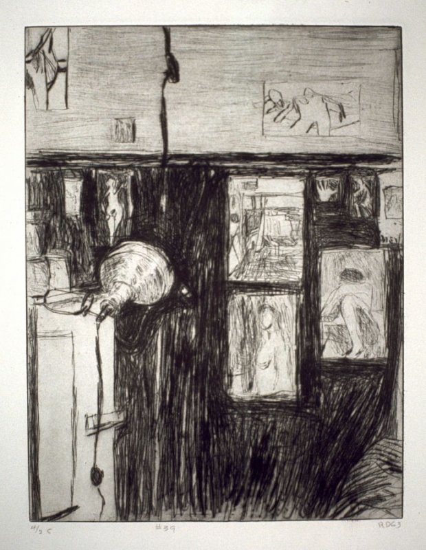 #39 (the artist's studio in Berkeley), from the portfolio 41 Etchings Drypoints