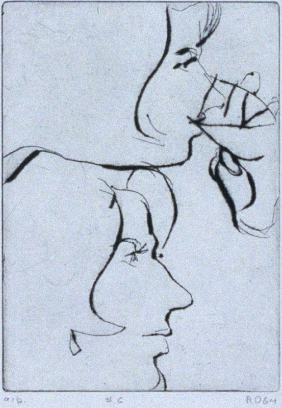 #6 (two portraits of Phyllis) in the book, 41 Etchings Drypoints by Richard Diebenkorn ([Berkeley]: Crown Point Press, 1965)