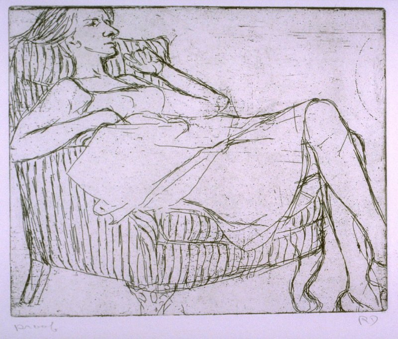 State proof 5 for #18 in 41 Etchings Drypoints