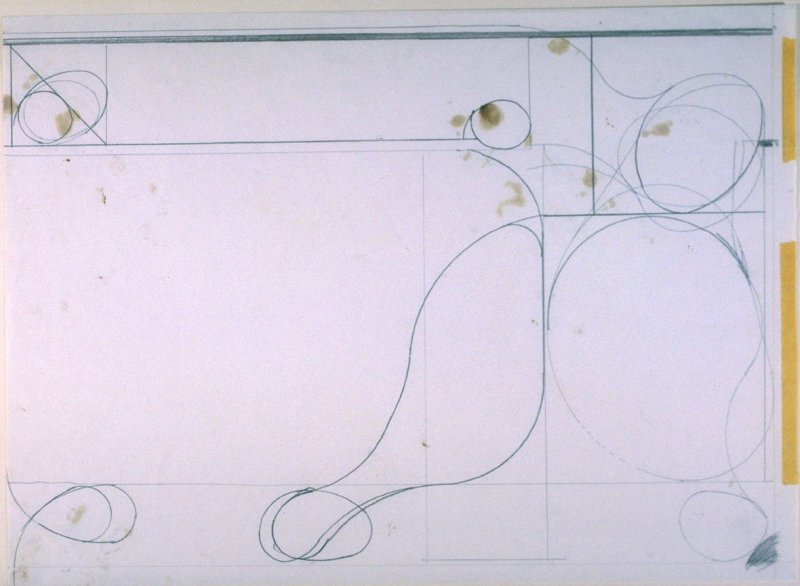 Drawing for #2, from the portfolio, Six Softground Etchings