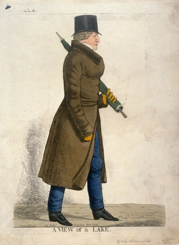 Caricature (full figure) of Gerard, 1st Vicount Lake - A View of the Lake""