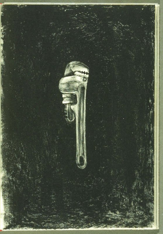 Plate 3 in the book Pictures by Robert Creeley (Albuquerque NM: Tamarind Institute, 2001)