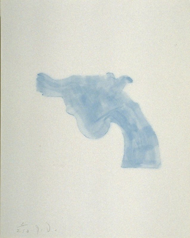 Untitled (blue handgun) from the book The Poet Assassinated by Guillaume Apollinaire, translated by Ron Padgett (New York: Tanglewood Press, Inc., 1968)