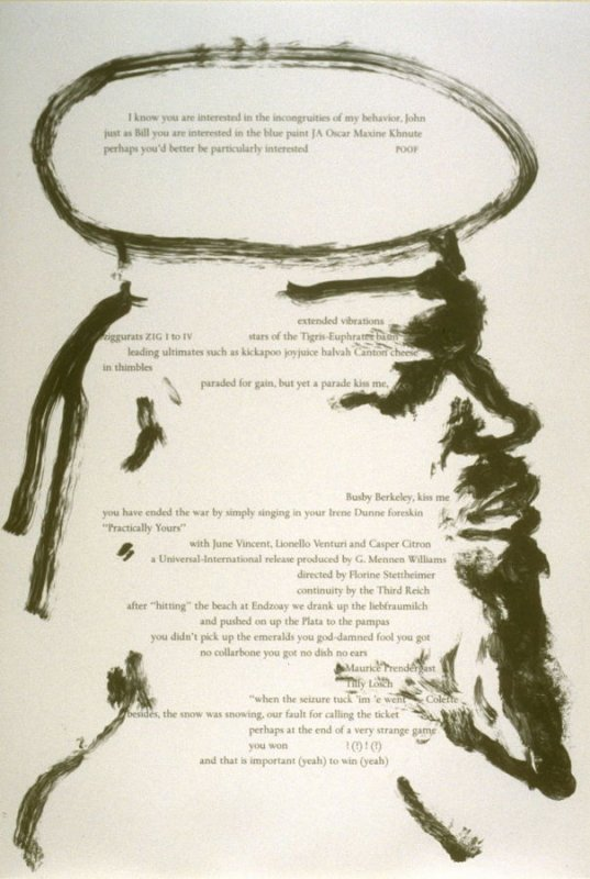 Fifth plate in the portfolio Biotherm (for Bill Berkson) by Frank O'Hara (San Francisco: Arion Press, 1990)