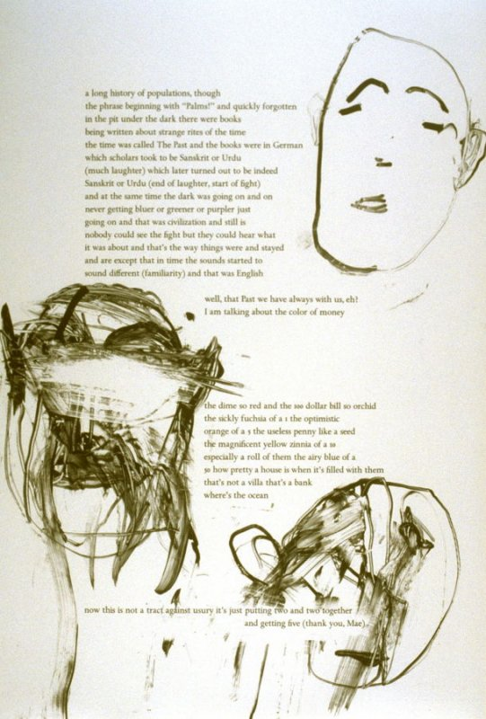 Thirty-third plate in the portfolio Biotherm (for Bill Berkson) by Frank O'Hara (San Francisco: Arion Press, 1990)