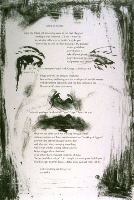Seventeenth plate in the portfolio Biotherm (for Bill Berkson) by Frank O'Hara (San Francisco: Arion Press, 1990)
