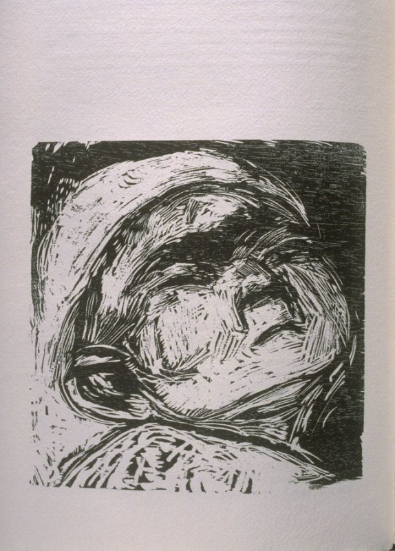 """""""Scorched with a Great Heat,"""" illustration in the book The Apocalypse/The Revelation of Saint John The Divine/The Last Book of the New Testament from the King James Version of the Bible, 1611, with Twenty-nine Prints from Woodblocks Cut by Jim Dine. (San"""