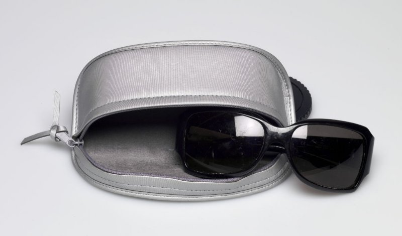 Pair of sunglasses with case