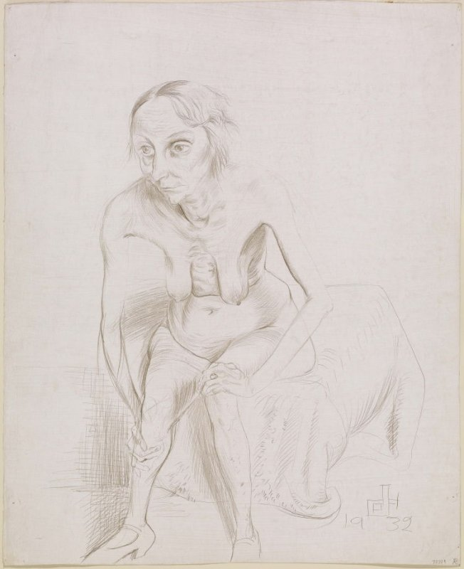 Old Woman, Seated Nude