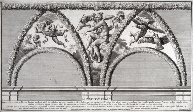 Venus Points Out Psyche to Cupid, from Psyches et Amoris nuptiae