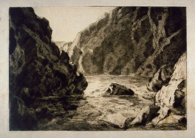 Cove with Rocky Cliffs