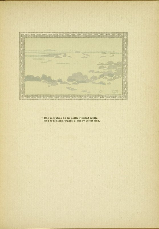 "Untitled, accompanying the poem ""To A. W. D.,"" in the book By Salt Marshes by Everett Stanley Hubbard (Publisher and location unknown, 1908)"