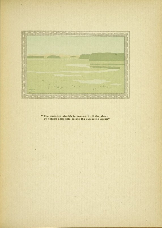 """Untitled, accompanying the poem """"Ipswich Marshes,"""" in the book By Salt Marshes by Everett Stanley Hubbard (Publisher and location unknown, 1908)"""