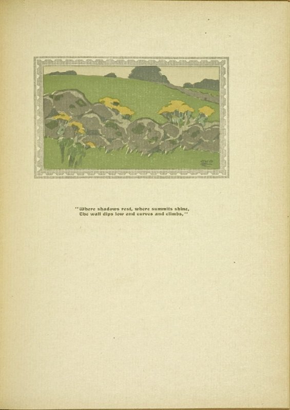 "Untitled, accompanying the poem ""The Old Stone Wall,"" in the book By Salt Marshes by Everett Stanley Hubbard (Publisher and location unknown, 1908)"