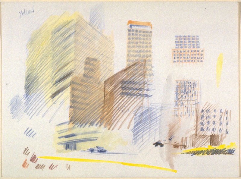 Untitled drawing (yellow)