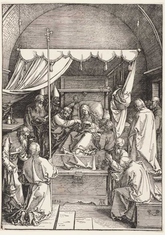 The Death of the Virgin, plate 18 from The Life of the Virgin (Nuremberg, 1511)