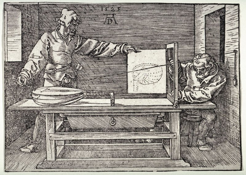 Man Drawing a Lute (The Draughtsman of the Lute)