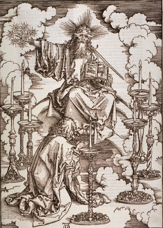 The Vision of the Seven Candlesticks, second plate from the series The Apocalypse
