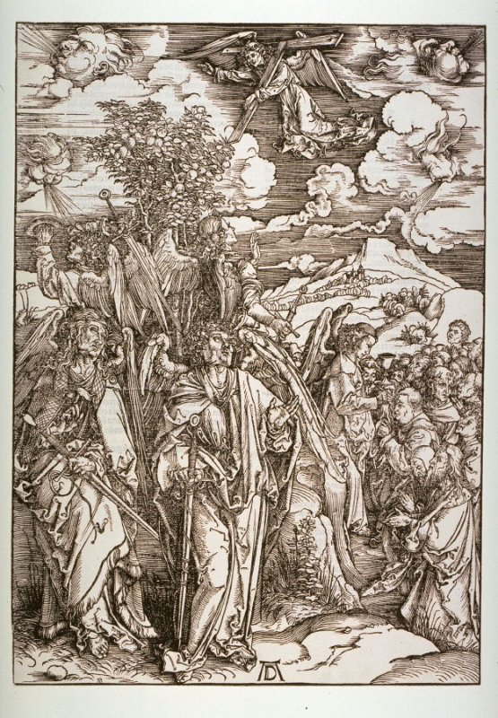 The Four Angels Holding the Winds, seventh plate from the series The Apocalypse