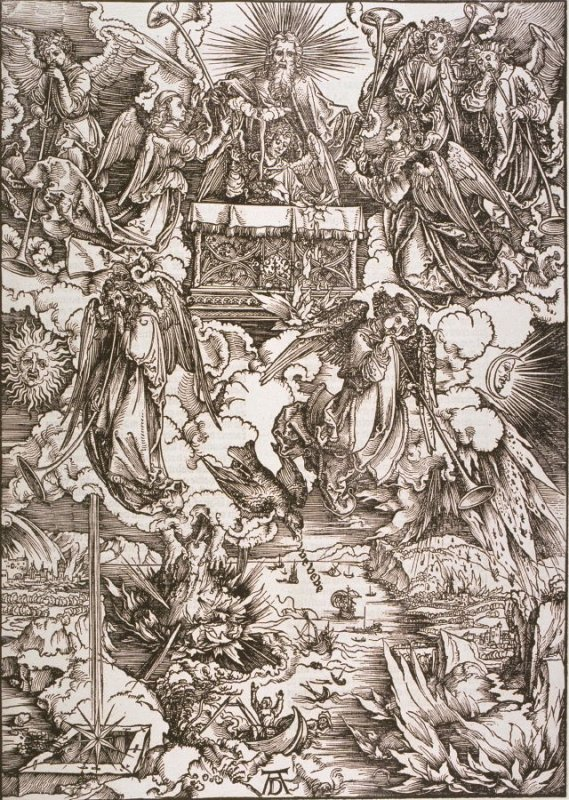 The Four Angels with the Trumpets, eighth plate from the series The Apocalypse