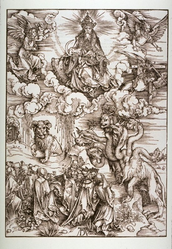 The Beast With Two Horns Like a Lamb, plate 13 from The Apocalypse (Nuremberg: Albrecht Dürer, 1511)