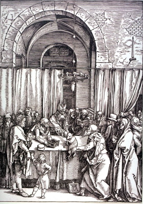 Joachim Rejected by the High Priest, second plate from the series The Life of the Virgin