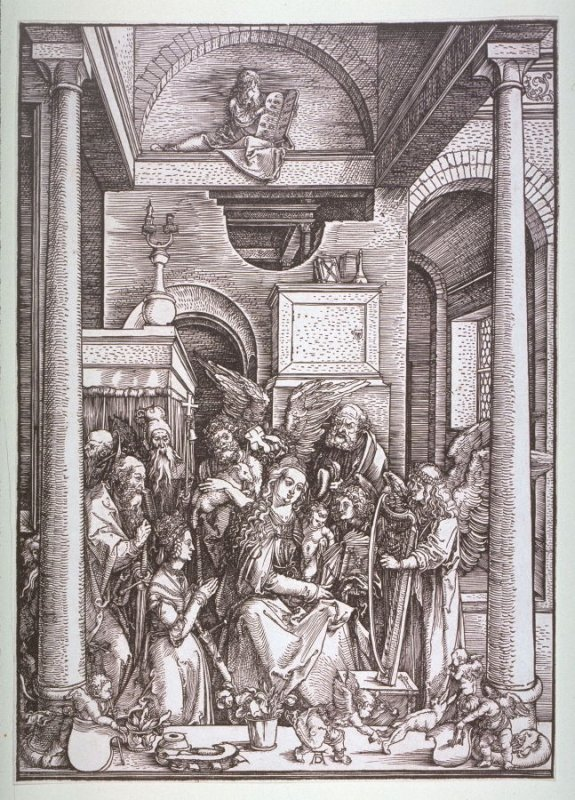 The Glorification of the Virgin Mary, twentieth plate from the series The Life of the Virgin