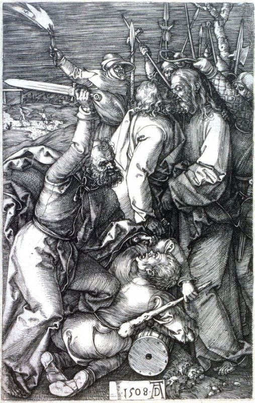 Betrayal of Christ, third plate from the Engraved Passion