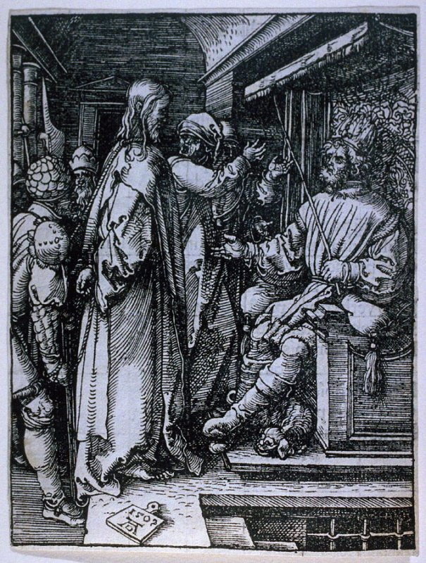 Christ before Herod, seventeenth plate in the series, The Little Passion