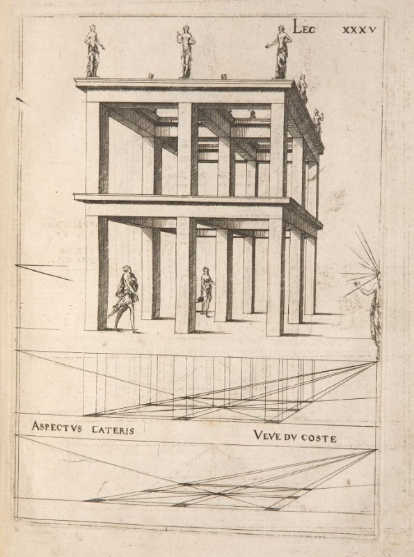 Plate 35 in the book Leçons de perspective positive (Paris: Mamert Patisson, 1576)