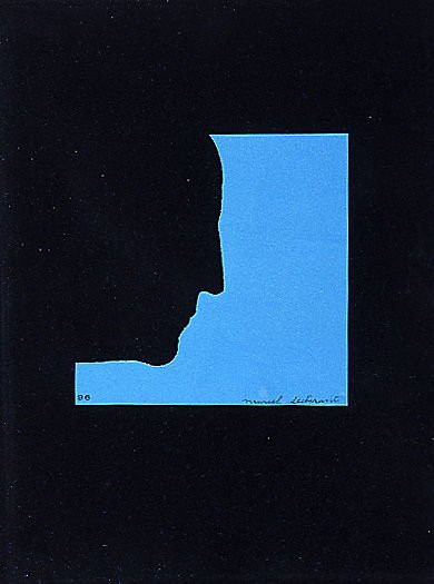 """""""Self Portrait in Profile,"""" in Eau & gaz a tous les étages (Imitated Readymade) and book Sur Marcel Duchamp (France: Éditions Trianon, 1958) also (London: Éditions Trianon, 1958) and (New York; Grove Press, 1958)"""