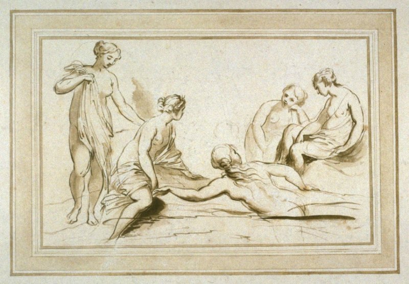 Diana with Bathing Nymphs, illustration to the series 'A collection of prints, after the sketches and drawings of the late celebrated Giovanni Battista Cipriani'