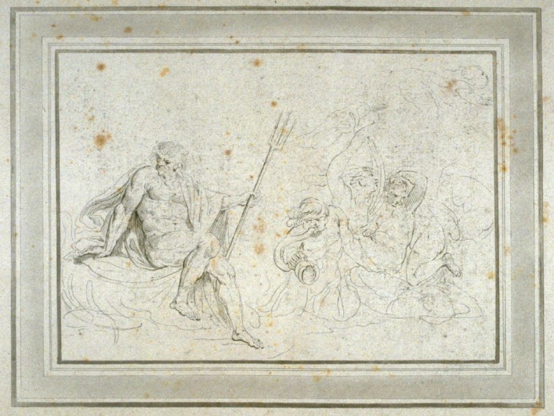 Neptune and Seagods, illustration to the series 'A collection of prints, after the sketches and drawings of the late celebrated Giovanni Battista Cipriani'