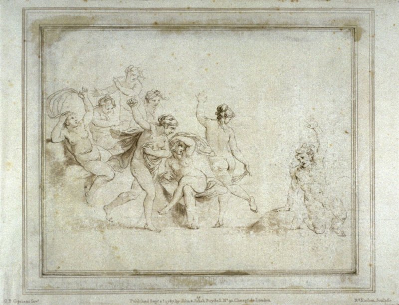Death of Orpheus, illustration to the series 'A collection of prints, after the sketches and drawings of the late celebrated Giovanni Battista Cipriani'