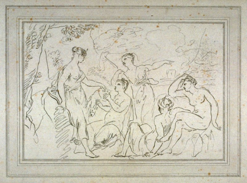Diana and her nymphs, illustration to the series 'A collection of prints, after the sketches and drawings of the late celebrated Giovanni Battista Cipriani'