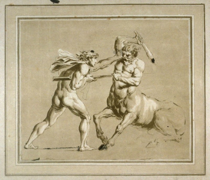 Theseus and the Minotaur, illustration to the series 'A collection of prints, after the sketches and drawings of the late celebrated Giovanni Battista Cipriani'
