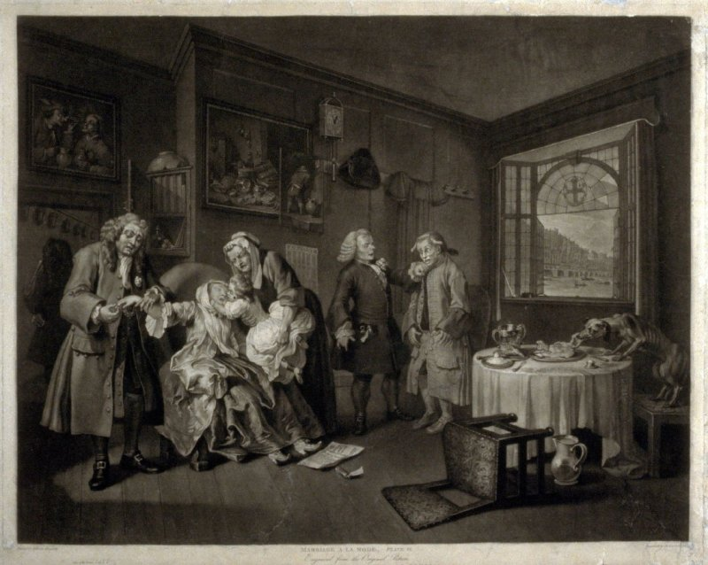 Plate VI from Marriage a la Mode