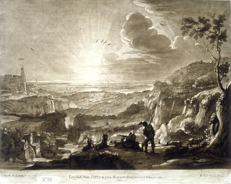 A view of the Roman Campagna near Tivoli, plate 89 from vol.I of Earlom's Liber Veritatis (1777)