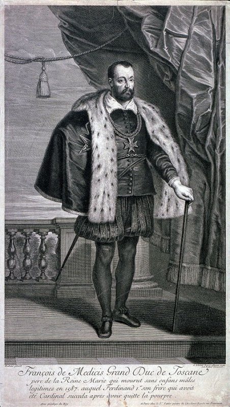 Portrait of Francis de Medici, Duke of Tuscany, father of Queen Marie