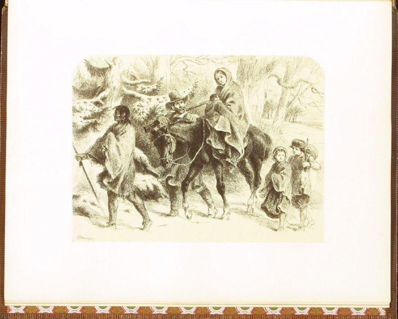The Exiles, accompanied by verses by H. W. Longfellow, twelfth plate in the book Autograph Etchings by American Artists (New York: W. A. Townsend & Company, 1859)