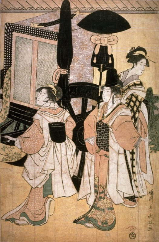 Return of Prince Genji from a Shinto Shrine, part 5 of a pentaptych