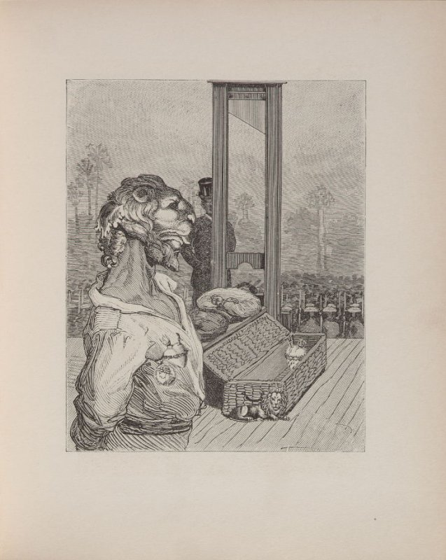 "Untitled, illustration 31, in the book Premier Cahier Dimanche, Élement: La Boue, Example: ""Le Lion de Belfort,"" in the book Une semaine de Bonté ou les sept éléments capitaux (Paris: Editions Jeanne Bucher, 1934); volume 1 of 5"