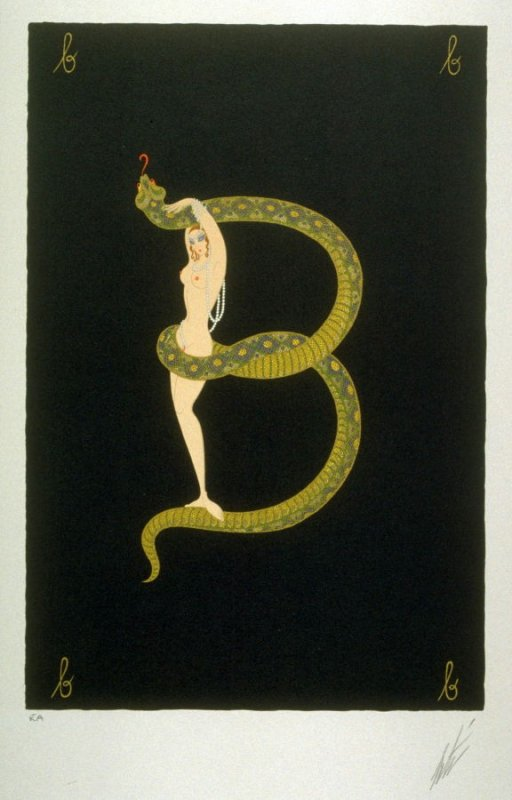 B, plate 2 from the boxed portfolio The Alphabet