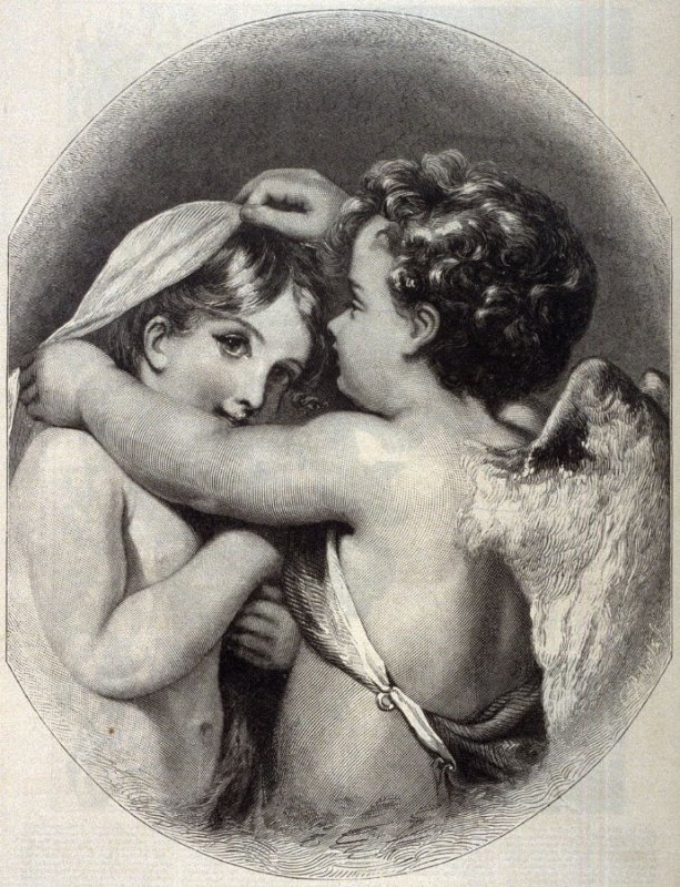 Cupid and Psyche - p.317 Harper's Weekly 21 April 1877