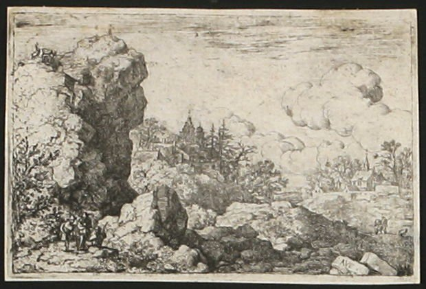 The Three Travellers at the Foot of the High Rock