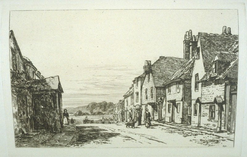 A Street in Rye, plate 29 in the book, The Etcher (London: Sampson Low…, 1880), vol. 2 [bound in same volume as vol. 1, 1879]