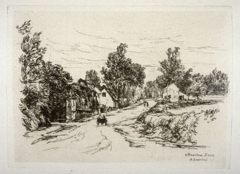 On the Road near Braintree, plate 3 in the book, The Etcher (London: Sampson Low…, 1880), vol. 2 [bound in same volume as vol. 1, 1879]